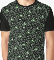 Cryptid Pattern (Green Lines) Graphic T-Shirt
