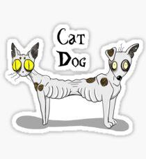 Tim Burton CatDog Sticker