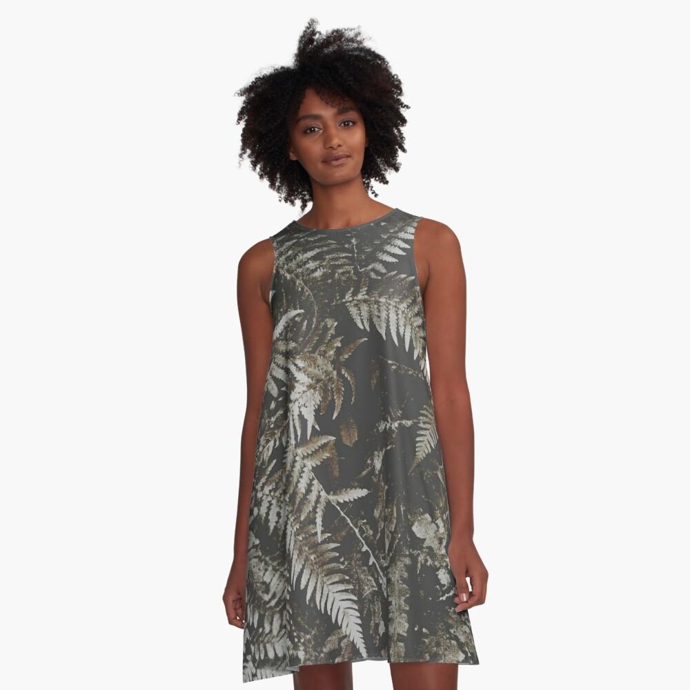 Forest Fern A-Line Dress Front