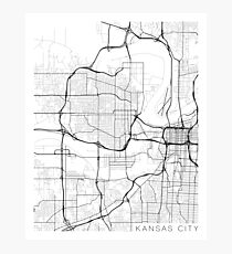 Kansas City Map Wall Art | Redbubble
