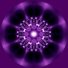 Center Light Purple Satin Mandala by Dana Roper