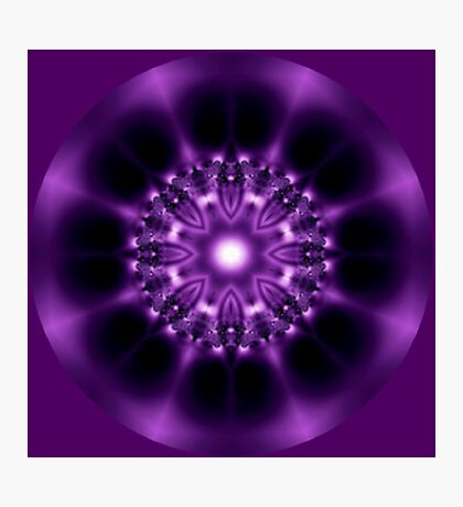 Center Light Purple Satin Mandala Photographic Print