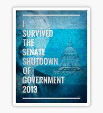 Senate Shutdown of Government Sticker
