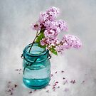 Lilacs in a Green Glass Jar by LouiseK