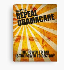 Fight To Repeal Obamacare Canvas Print