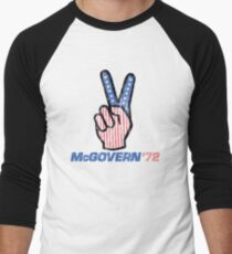 George McGovern Hand Peace Sign 1972 Presidential Campaign Men's Baseball ¾ T-Shirt