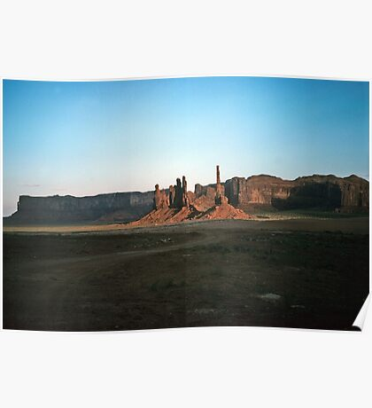 Monuments in Monument Valley, Utah,  USA Poster