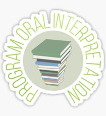program oral interpretation Sticker