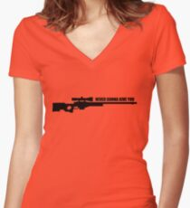 Never gonna give you awp Women's Fitted V-Neck T-Shirt