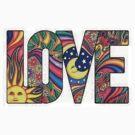 Hippie Style  LOVE by thatstickerguy