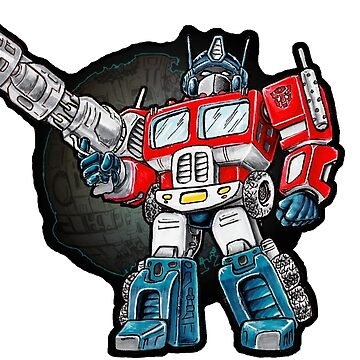 Optimus Prime Chibi - No background by TomCaffrey
