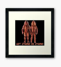 Let Zygons Be Zygons Framed Print