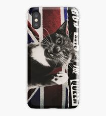 God Save The Queen Cat iPhone Case/Skin