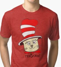 Cute Pussy Cat In A Hat Tri-blend T-Shirt