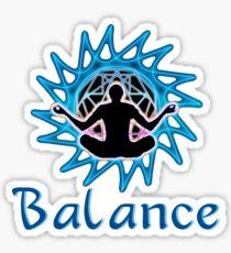 Men's ~ Balance: Meditation & sacred geometry .  Sticker