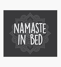 Namaste in Bed Photographic Print