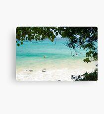 Turquoise & White Wash Canvas Print