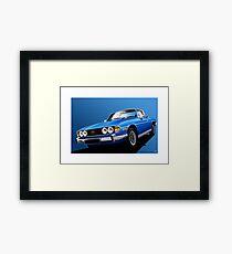 Poster artwork - Tahiti Blue Triumph Stag Framed Print