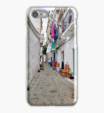 Alleys of Ibiza town. iPhone Case/Skin