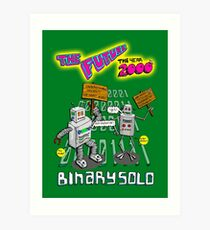 Flight of the Conchords - Binary Solo - Robots 2 Art Print