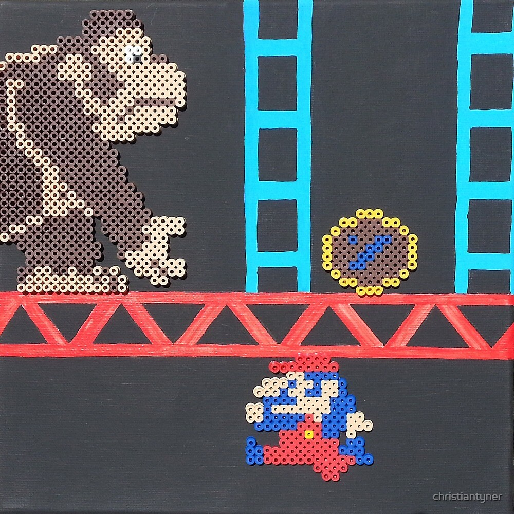 Donkey Kong & Jumpman (Paint 'N' Beads) by christiantyner