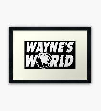 Wayne's World Logo Framed Print