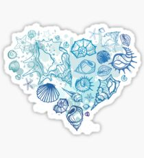 Heart of the shells. Sticker