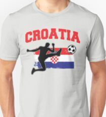Kroatien Fußball / Fußball Slim Fit T-Shirt