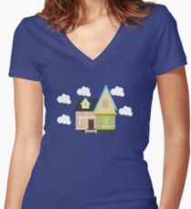 Up House Women's Fitted V-Neck T-Shirt