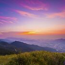 Mountain sunset  by kawing921