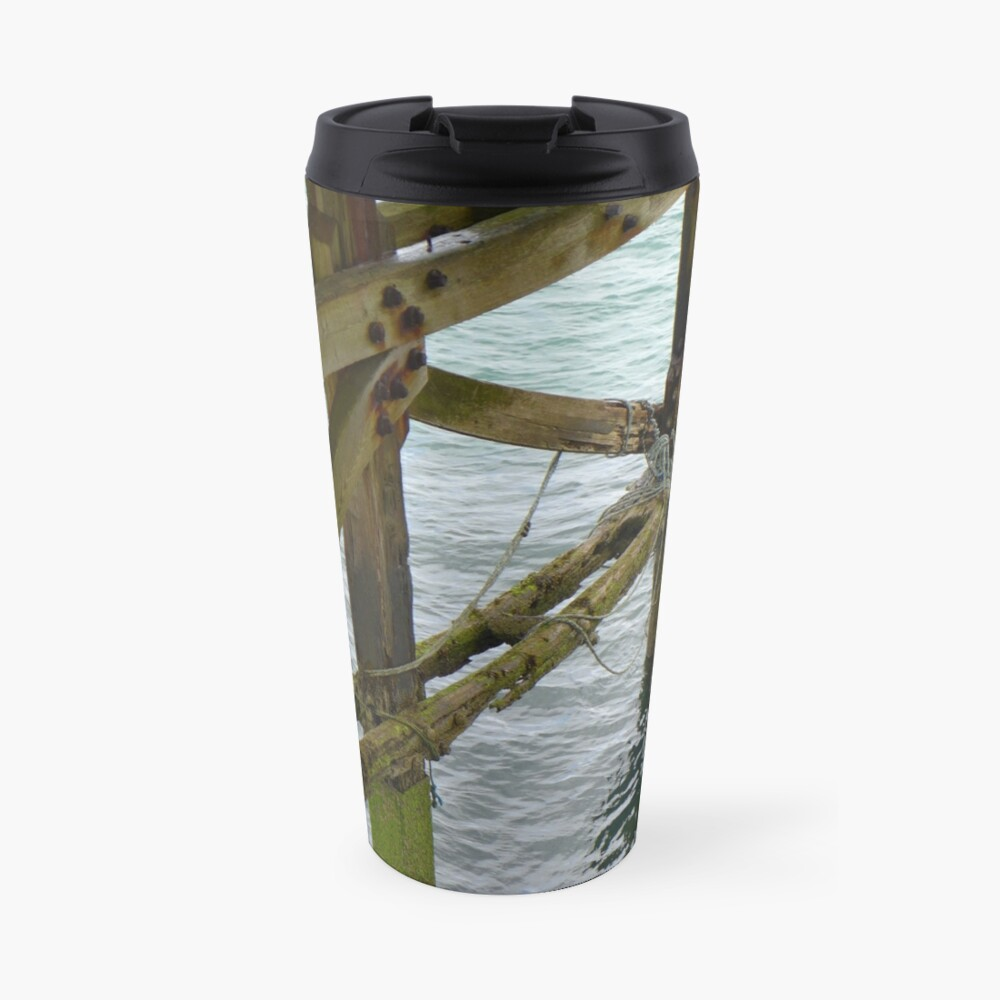 The old pier at Trefor Travel Mug