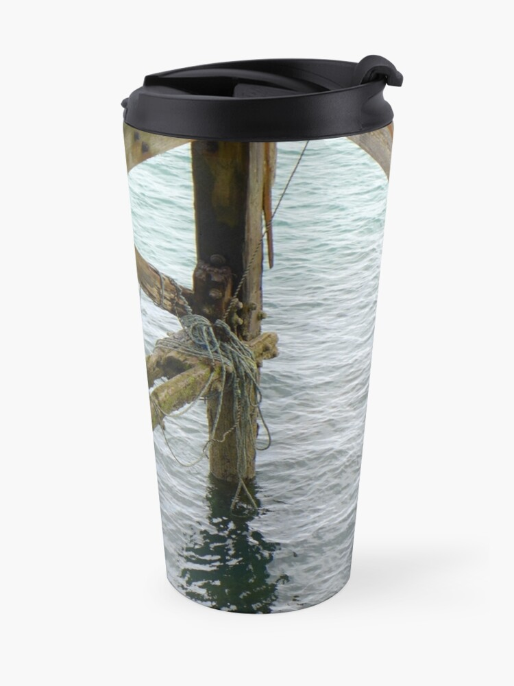 Alternate view of The old pier at Trefor Travel Mug