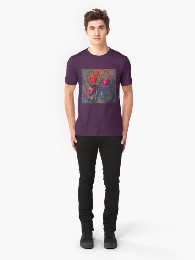 Alternate view of Roses #DeepDreamed Slim Fit T-Shirt