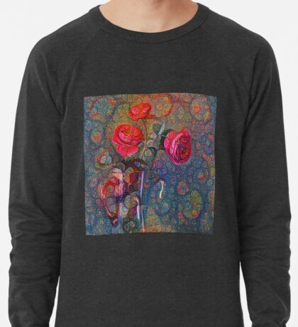 Roses #DeepDreamed Lightweight Sweatshirt