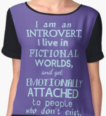 introvert, fictional worlds, fictional characters #2 Chiffon Top