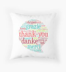 Thank you bubble Throw Pillow