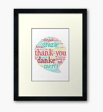 Thank you bubble Framed Print