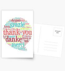 Thank you bubble Postcards