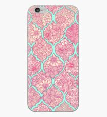 Moroccan Floral Lattice Arrangement - pink iPhone Case