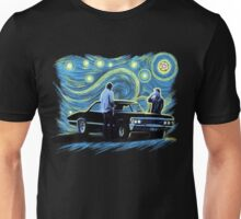 supernatural starry night sam dean winchesters  baby j2 Unisex T-Shirt