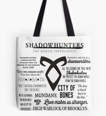 Shadowhunters Quotes Tote Bag