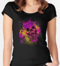 Suicidal Skull Women's Fitted Scoop T-Shirt
