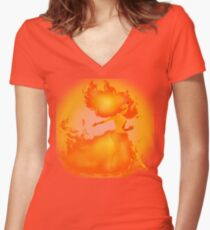 Flame Princess Women's Fitted V-Neck T-Shirt