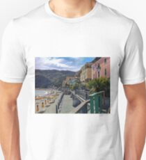 Beach day at Monterroso al Mare, Italy Unisex T-Shirt