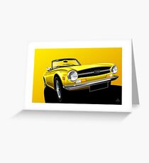Poster artwork - Triumph TR6 Greeting Card