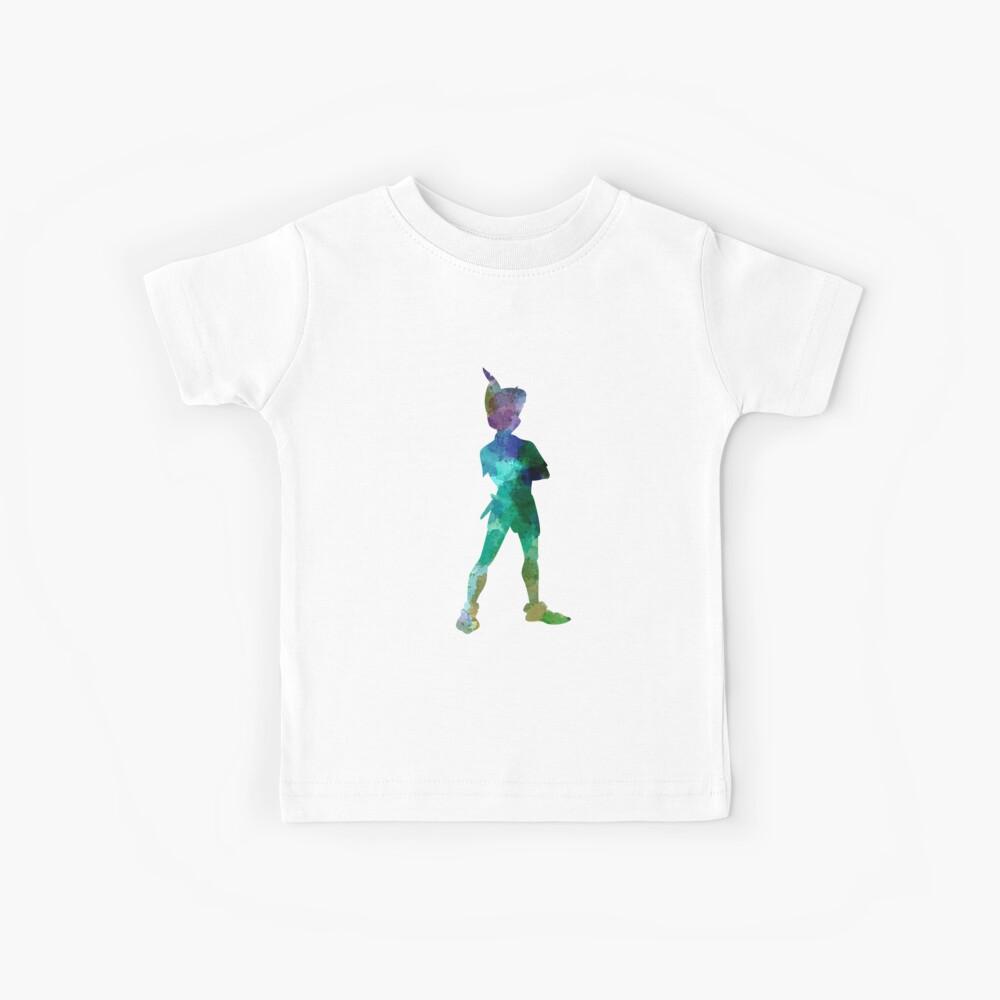 Peter Pan in Aquarell Kinder T-Shirt
