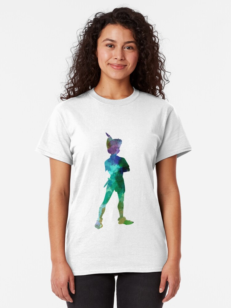 Alternative Ansicht von Peter Pan in Aquarell Classic T-Shirt