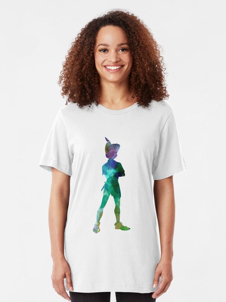 Alternative Ansicht von Peter Pan in Aquarell Slim Fit T-Shirt