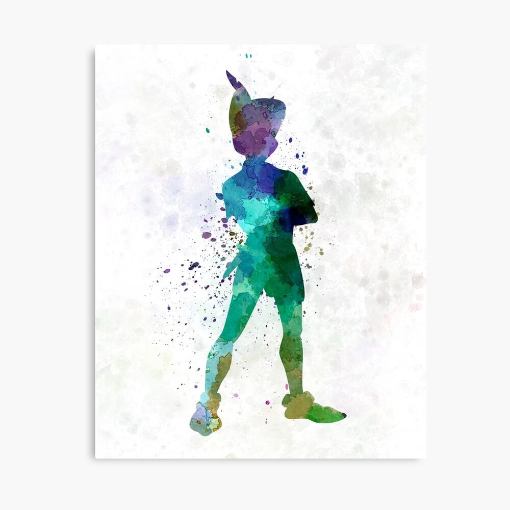 Peter Pan in Aquarell Leinwanddruck