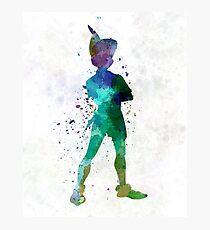 Peter Pan in watercolor Photographic Print
